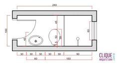 Resultado de imagem para projetos banheiros pequenos medidas