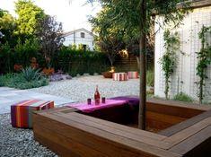 Modern square tree bench