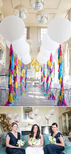 A gatsby themed wedding at Aynhoe Park with navy bridesmaids and bright balloons 0138 Tropical Gatsby