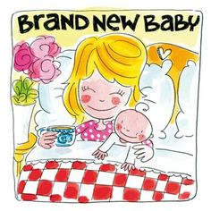 Brand New Baby (met mama in bed) - Blond Amsterdam