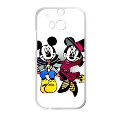 CaseCoco:HTC One M8 Halloween Mickey And Minnie Case ID:16559-134436