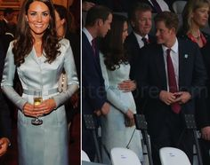 27 July 2012. Kate in Christopher Kane for Palace Reception for heads of state & London 2012 Olympic opening ceremony