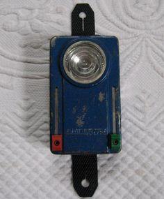 Amber lite  .  Three Color Flashlight . Vintage Army Light  German Army Lamp .  Signal Flashlight . army torch by vintagous on Etsy