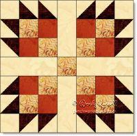 Bear's Paw Variation - free quilt block pattern