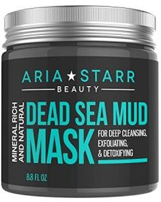 Aria Starr Dead Sea Mud Mask For Face, Acne, Oily Skin & Blackheads - Best Facial Pore Minimizer, Reducer & Pores Cleanser Treatment - Natural For Younger Looking Skin - Makeup - Roz - Care - Skin care , beauty ideas and skin care tips Face Mask For Blackheads, Acne Face Mask, Best Face Mask, Best Masks, Ave Tattoo, Aries, Online Shopping, Blackhead Mask, Blackhead Remover