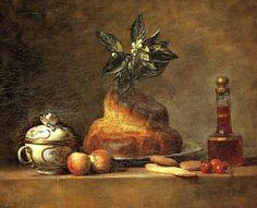 Jean-Baptiste Siméon Chardin, Still Life with Brioche, 1763