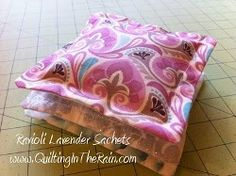 Ravioli Lavender Sachets | FaveQuilts.com