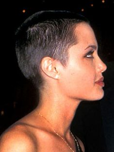 Angelina with shaved head. She should go back to this!