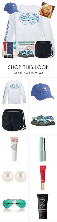 """Young, Dumb, & Broke..."" by erinleigh02 ❤ liked on Polyvore featuring NIKE, Chaco, Henri Bendel, Ray-Ban, NARS Cosmetics and Kate Spade"