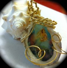 Mermaid of the Starfish Clam Shell Pendant  Just listed on Ebay!