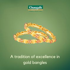 Adorn your wrist with this intricately crafted gold bangles Shop Now : https://www.chungathjewellery.com/gold/bangles