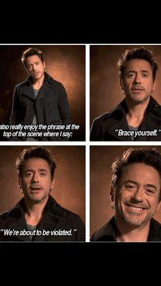Robert Downey Jr about Sherlock Holmes 2 .That smile tho, he's adorable! Sherlock Holmes Robert Downey, Robert Downey Jr., Downey Junior, Baker Street, Tony Stark, I Movie, Movie Stars, My Idol, Iron Man
