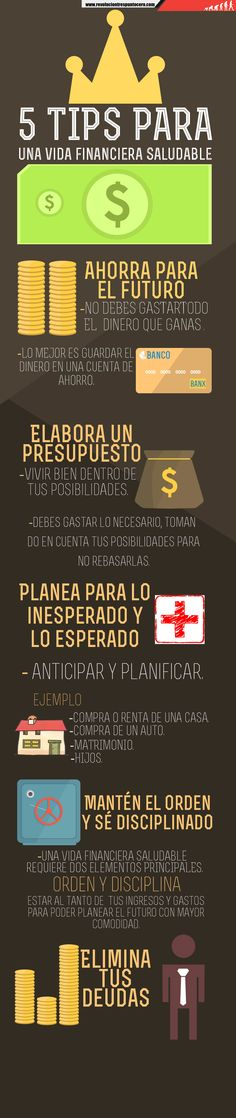 5 tips para una vida financiera saludable #INFOGRAFÍA