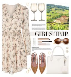 """Wine Tasting Outfit"" by tamara-p ❤ liked on Polyvore featuring Glamorous, Zolà, Lipstick Queen, Jane Iredale, PONO, girlstrip and WineTastingOutfit"
