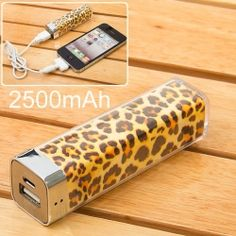 Everbuying Mobile offers high qualit Leopard External Battery Charger Mobile Power Bank for iPhone 4 / / iPad / Samsung / / LG / MOTO / Nokia / Sony / HTC at wholesale price from China. Gadgets And Gizmos, Cool Gadgets, Technology Gadgets, Cute Gifts, Great Gifts, Unique Gifts, Just In Case, Just For You, Genius Ideas