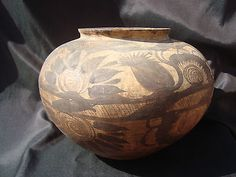 Mexican Huastec Indian Pottery Vase C 1920 Pueblo Designs LG Tourist   eBay