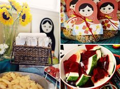 Matryoshka themed bday party (if anyone ever wants to throw me a party...)