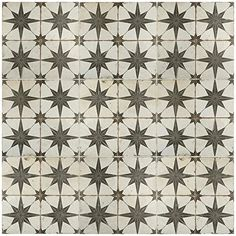 Merola Tile Kings Star Nero Encaustic in. Ceramic Floor and Wall Tile sq. / case)-FPESTRN - The Home Depot Mosaic Tiles, Wall Tiles, Vinyl Tiles, Mosaics, Best Floor Tiles, Tile Saw, Tiles Online, Wall Patterns, Floor Patterns