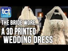 Xuberance bride and groom on THAT 3D printed wedding dress - TCT - 3D Printing, Additive Manufacturing and Product Development Technology
