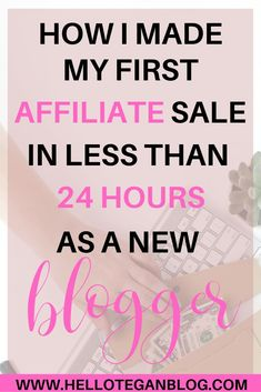 Want to learn how I made my first affiliate sale in less than 24 hours? Today I am going to share with you how I made my first affiliate sale! Affiliate Marketing, Online Marketing, Social Media Marketing, Marketing Strategies, Marketing Training, Marketing Ideas, Digital Marketing, Make Money Blogging, How To Make Money
