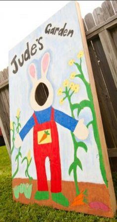 Harry the Bunny photo prop birthday