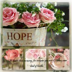 Pink Hope, mood/color collage
