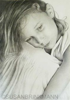'Melancholy', Grey and black coloured pencils on paper, 42x59cm.