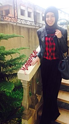 Leather jacket look | MyhijabStyle