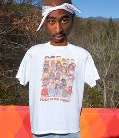 vintage 80s tee shirt world PEACE save earth love by skippyhaha