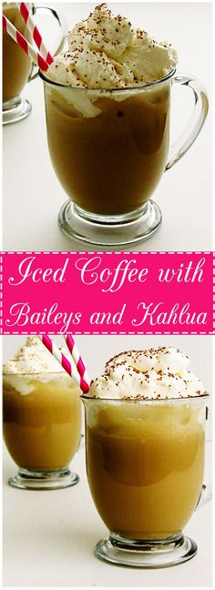 Iced Coffee with Baileys and Kahlua is the perfect pick-me-up. It's smooth, creamy, and slightly sweet with Irish cream and coffee flavors.