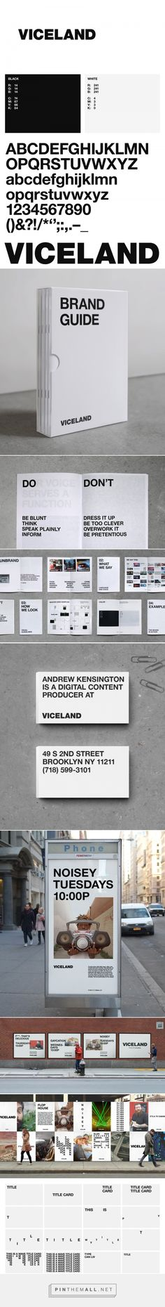 Brand New: New Logo, Identity, and On-Air Package for Viceland by Gretel. - a grouped images picture - Pin Them All Corporate Design, Graphic Design Typography, Corporate Identity, Web Design, Layout Design, Print Design, Design Guidelines, Brand Guidelines, Identity Design