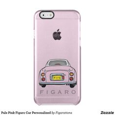 Personalized Pale Pink Figaro Car iPhone Case #nissanfigaro #figarations