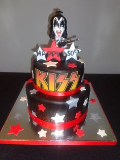 Kiss Gene Simmons Cake