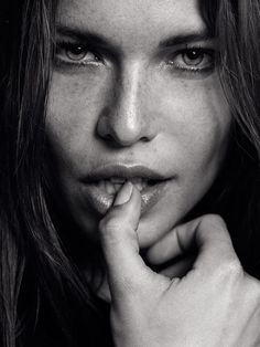 gorgeous freckled face