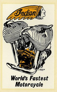 "ratfinksofamerica:  indian on Flickr. Indian World's Fastest Motorcycle Ed ""Big Daddy"" Roth water slide decal."