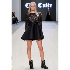 """""""Neoprene + Lace dress by Coo Culte"""""""