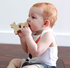 Our teethers are made using hard maple which is naturally resistant to bacteria and it is non-splintering wood, so it's safe for baby to gum on it for hours! Plus our teethers come in super cute shapes like this Fox. Little Babies, Little Ones, Little Girls, Ballet Nursery, Fantastic Fox, Eco Baby, Teething Toys, All Toys, Children