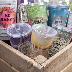 Sip happy with our inspirational On the Go Cups! ☺️