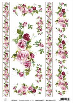 Papier do decoupage ITD Soft Floral Vintage, Vintage Diy, Vintage Paper, Vintage Cards, Decoupage Vintage, Vintage Ephemera, Diy And Crafts, Arts And Crafts, Paper Crafts
