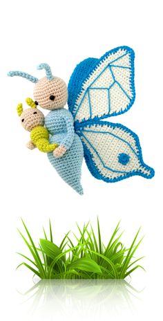 Butterfly Bree - crochet amigurumi pattern by Zabbez / Bas den Braver