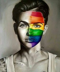 Ruby Rose an incredible woman Ruby Rose, Orange Is The New Black, Gay Aesthetic, Bubbline, Lesbian Love, Rainbow Pride, Cute Gay, Gay Pride, Makeup Inspiration