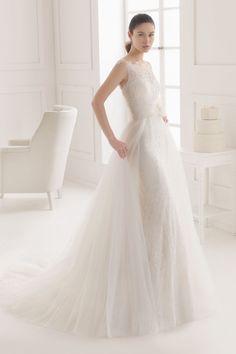2016年新作 ウェディングドレス イリュージョン マーメイドライン 2 in 1 チャペル ノースリーブ ボタン 結婚式 二次会 ドレス フラワー付き Hra0126
