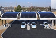 estacion-solar-de-carga-electrica-honda http://www.esrenovable.com/2011/12/estacion-de-carga-de-energia-solar.html