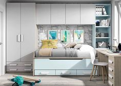 White children's bedroom furniture set / unisex – MINI TIC – ROS 1 S. – Videos Source by anamelchorherna - Fitted Bedroom Furniture, Fitted Bedrooms, Childrens Bedroom Furniture, Modern Kids Bedroom, Kids Bedroom Designs, Small Room Bedroom, School Kids, Videos, Simple Apartment Decor