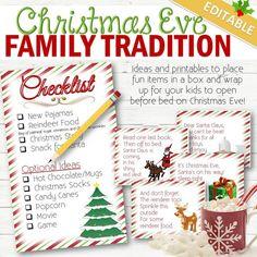 EDITABLE Christmas Eve Surprise Box- INSTANT DOWNLOAD