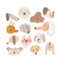 Dogs Giclee Fine Art print Illustration - Print SALE - Buy 2 Get 1 Free