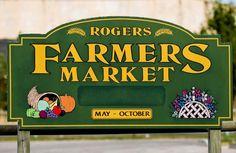 Come and enjoy the Rogers Farmers Market! Slight new location, corner of Walton & 1st Street.