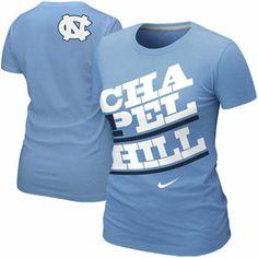 Nike North Carolina Tar Heels (UNC) Ladies Local T-Shirt - Carolina Blue