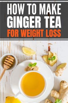 How to make ginger tea for weight loss and flat stomach. Includes 5 benefits of ginger for weight loss, tips on when to drink, fresh vs powder ginger and tea bags. Easy recipe with lemon and honey. Weight Loss Meals, Weight Loss Drinks, Weight Loss Smoothies, Healthy Weight Loss, All You Need Is, Lemon Recipes, Healthy Recipes, Ginger Tea Recipes, Ginger Lemon Honey Tea