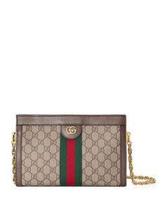 24f001277af Gucci Linea Dragoni Small GG Supreme Canvas Chain Shoulder Bag